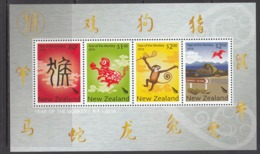2016 New Zealand Year Of The Monkey Souvenir Sheet   MNH  **PRICED Below Face Value ** - Chines. Neujahr