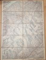 Carte Sur Tissu: 1:75000 - Skirouten -  Berner Alpen - Grindelwald - Eiger  - Jungfrau - Aletschgletscher ~57 X 41 Cm - Topographical Maps