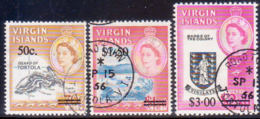 BRITISH VIRGIN ISLANDS 1966 SG 207-09 Compl.set Used Surcharges - British Virgin Islands