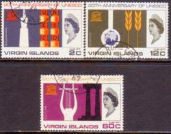 BRITISH VIRGIN ISLANDS 1966 SG 210-12 Compl.set Used UNESCO - British Virgin Islands