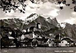 Sargans Mit Schloss Und Falknis (7126) (b) - SG St. Gallen