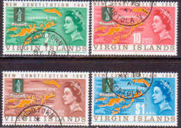 BRITISH VIRGIN ISLANDS 1967 SG 213-16 Compl.set Used New Constitution - British Virgin Islands