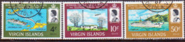 BRITISH VIRGIN ISLANDS 1967 SG 217-19 Compl.set Used Bermuda-Tortola Telephone Service - British Virgin Islands