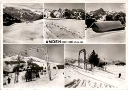 Amden 900 - 1300 M ü. M. - 5 Bilder (28769) * 19. 2. 1957 - SG St. Gall