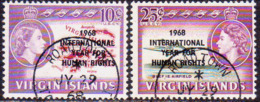 BRITISH VIRGIN ISLANDS 1968 SG 224-25 Compl.set Used Human Rights Year - British Virgin Islands