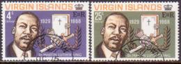 BRITISH VIRGIN ISLANDS 1968 SG 226-27 Compl.set Used Martin Luther King - British Virgin Islands