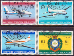BRITISH VIRGIN ISLANDS 1968 SG 228-31 Compl.set Used Beef Island Airport Extension - British Virgin Islands