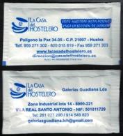 Portugal Sachet Sucre Sugar La Casa Del Hostelero Huelva Espagne Et Galerias Guadiana - Suiker