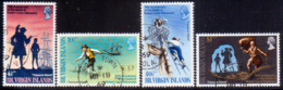 BRITISH VIRGIN ISLANDS 1969 SG 232-35 Compl.set Used Robert Louis Stevenson - British Virgin Islands