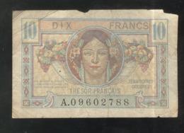 Billet 10 Francs Trésor Français - Tesoro