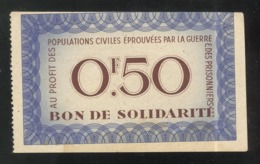 Bon De Solidarité 0,50 Franc Au Profit Des Populations Civiles - Pétain - Etat Français - SUP - 1871-1952 Antiguos Francos Circulantes En El XX Siglo