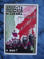 Q180 CARTOLINA   MILITARE ADUNATA NAZIOANLE VOLONTARI GUERRA -  Associazione Volontari Di Guerra ROMA 1.2. GIUGNO -1935 - Reggimenti