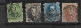 België  N° 13/16 - 1863-1864 Medaillen (13/16)