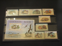 GRENADA - 1979 FAUNA 8 VALORI + BF -  NUOVI(++) - Grenada (1974-...)