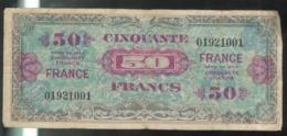 Billet 50 Francs France 1944 Sans Série - 1945 Verso Francia