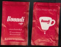 Portugal Sachet Sucre Sugar Buondi Tasse Montgolfière Tira Mais Do Dia Profite Plus De Ta Journée - Sucres