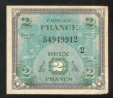 Billet 2 Francs Drapeau 1944 Série 2 - Tesoro