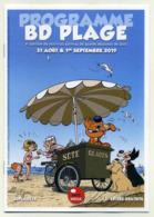 Programme BD Plage 2019 : 8ème Festival De Bande Dessinée De Sète. Couverture : Boule Et Bill. 16 Pages Format A5 - Programmes