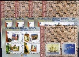 2x5 Blocks Lettland Block 21+Kroatien Bl.27 ** 212€ Ss Blocs History Stamps 50 Years CEPT 2006 M/s Sheets Bf EUROPA - 2006