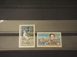 T.A.A.F. - 1968 ALBATRO/AMMIRAGLIO 2 VALORI -  NUOVI(++) - Briefmarken