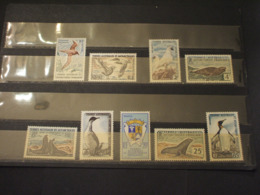 T.A.A.F. - 1959/63 PITTORICA/ANIMALI 9 VALORI -  NUOVI(++) - Briefmarken