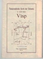 Karte Des Schweiz 1:100000 - Vips - Zermatt - Cercin - Brig  1934  (~75 X 55 Cm) Valais Suisse - Topographical Maps