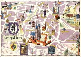 Stadtplan - St. Gallen * 21. X. 1960 - SG St. Gallen