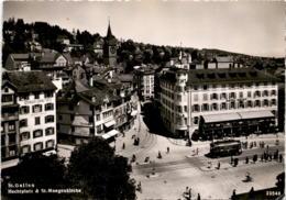 St. Gallen - Hechtplatz & St. Mangenkirche (23548) * 11. 3. 1949 - SG St. Gallen
