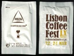 Portugal Sachet Sucre Sugar Delta Lisbon Coffee Fest Lx Factory Mars 2019 - Sucres