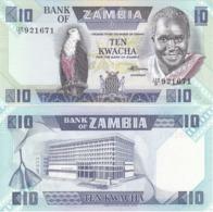 Zambia - 10 Kwacha 1980 - 1988 P. 26e UNC Lemberg-Zp - Zambia