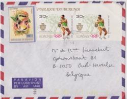Burundi, Lettre Avec Timbre Non Dentelé. - 1980-89: Nuovi
