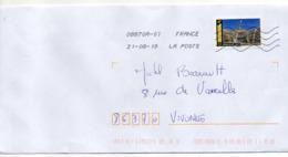 """2019-- Tp  Adhésif  """" Paris -- Grand Palais.....  """"  Seul Sur Lettre- - Marcophilie (Lettres)"""