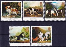 2019-0218 UK 1991 Dog Paintings (George Stubbs) Complete Set Mi 1305-1309 MNH ** - 1952-.... (Elisabeth II.)