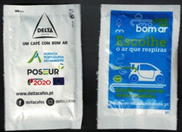 Portugal Sachet Sucre Sugar Delta Environnement Air Pur Voitures Faibles émissions - Sucres