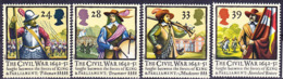 2019-0222 UK 1992 English Civil War 1642-51 Complete Set Mi 1405-1408 MNH ** - 1952-.... (Elisabeth II.)