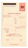 1941 WWII YUGOSLAVIA, NDH, BANOVINA HRVATSKA, DISCOUNT FORM, REVENUE STAMP, PREPRINTED - Invoices & Commercial Documents