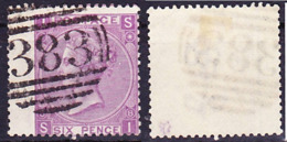 2019-0238 UK 1869 Queen Victoria Wmk Spray Of Rose Mi 30, SG 109 Used O - Used Stamps