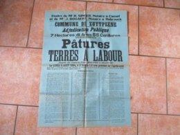 ZUYTPEENE LE 6 AOUT 1934 VENTE DE PATURES ET TERRES A LABOUR REQUÊTE DES CONSORTS PARY,BOGAERT,DELEPINE 82cm/61cm - Posters