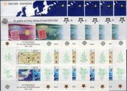 Imperf.15 Blocks TK-Cyprus Bl.24,Crna Gora Block 2+3B ** 385€ Hb Blocs Stamp 50 Years CEPT 2005 Ss Sheets Bf EUROPA - Sellos