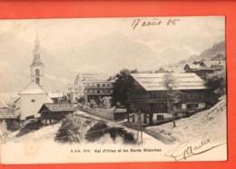 MTT-02 Val D'Illiez Et Dents Blanches, Village Et Eglise. D.W. 1076  Précurseur, Circulé 1905 - VS Valais
