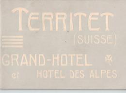 Territet (Suisse) Grand Hôtel Et Hôtel Des Alpes - Fascicule De 32 Pages - 35 Photos - Montreux (15.5 X 11.5) - Tourism Brochures