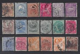 """AUSTRALIA. """" N.S.W...""""...QUEEN VICTORIA...(1837-01)...18 USED STAMPS TO 1/-... - Oblitérés"""
