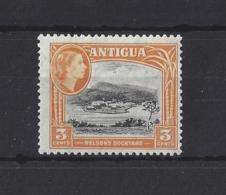 "ANTIGUA....QUEEN ELIZABETH II.(1952-NOW)....."" 1953.""....3c....SG123a...(CAT £3.50.)...MH. - 1858-1960 Colonia Británica"