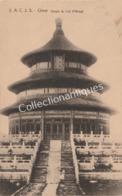 CPA Chine Temple Du Ciel - Péking - A.C.J.S. 1920 - Cina