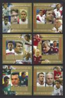 "SERRIA LEONE..QUEEN ELIZABETH II.(1952-NOW)..."" 2002.""  WORLD CUP...FOOTBALL SET OF 8.....MINI SHEETS.....MH. - Fußball-Weltmeisterschaft"