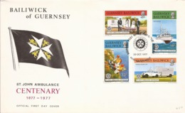St.John Ambulance FDC 1997 Guernsey - Croix-Rouge