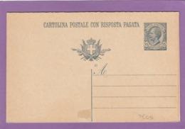 ENTIER POSTAL NEUF,DOUBLE,15 CENT. - 1900-44 Victor Emmanuel III.