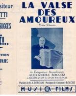 40 60 VALSE ACCORDÉON PARTITION ALEXANDRE BOCCOZ LYON LA VALSE DES AMOUREUX DEROSSI REMUET ±1948 PIANO GUITARE - Music & Instruments