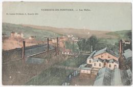 PORTIEUX (88) LA VERRERIE. LES HALLES. 1907. CARTE COLORISEE. - Altri Comuni
