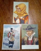 3 Cartoline Costumi Sardi NON VIAGGIATE - Costumi